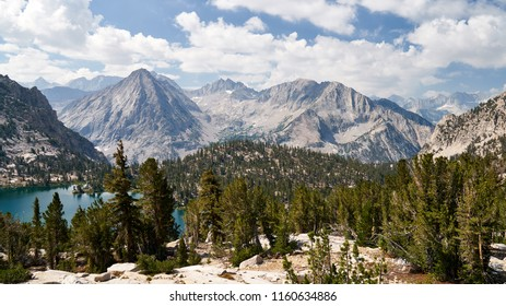 Beautiful landscape on the John muir trail in California