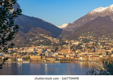 Beautiful landscape on Lake Como in December time