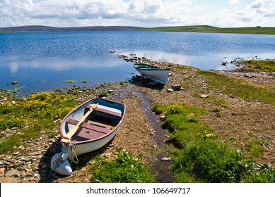 beautiful landscape on the Mainland of the Orkney Islands