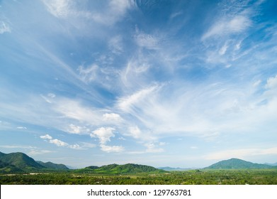 Beautiful landscape on mountain with nice sky