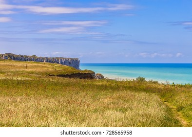 Beautiful landscape on the Normandy coast, close to Etretat in the North of France.