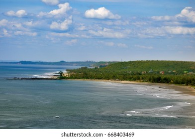 Beautiful landscape on the Northern beaches of Goa in the Indian ocean.India