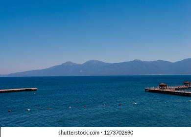 Beautiful landscape on the sea and mountains