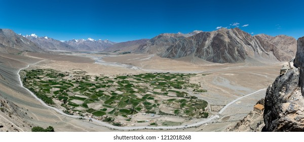 Beautiful landscape on the way to Zanskar road at Himalaya Range, Zanskar Range, Pensi La, Jammu and Kashmir.