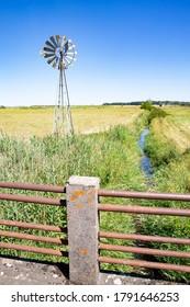 Beautiful landscape in Parc Naturel Régional de Lorraine near the village Blanche Eglise, France