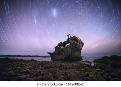 Beautiful landscape photo of the Meisho Maru Shipwreck along the Agulhas Coast at the Southern Most tip of Africa and South Africa