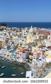 beautiful landscape of Procida Island in Napoli province, Italy