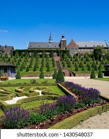 Beautiful landscape of the public park of Abbey Kamp, Germany
