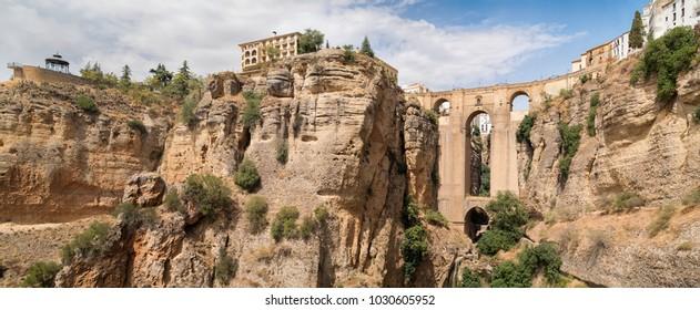 Beautiful landscape with the Puente Nuevo bridge over Tajo Gorge in Ronda, Andalusia, Spain