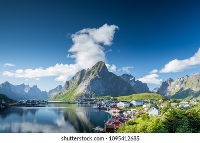 Beautiful landscape in Reine, Lofoten