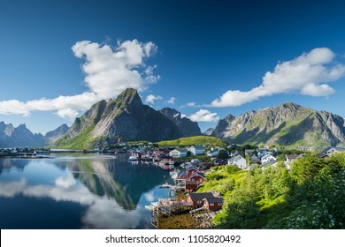 Beautiful landscape in Reine, Lofoten