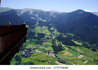 beautiful landscape from the Roc Del Quer viewpoint in the Andorran Pyrenees