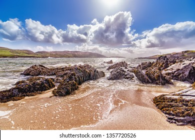 Beautiful landscape of rocky shore  in County Cork. Allihies, south west of Ireland.