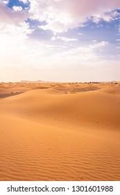 Beautiful landscape of the Sahara Desert, erg Chebbi, Merzouga, morocco