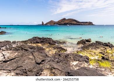 Beautiful landscape of the Santiago Island, Galapagos Islands, Ecuador