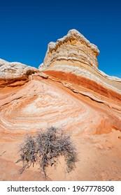 Beautiful landscape scene of unique sandstone buttes in arizona, USA