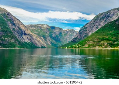 Beautiful landscape and scenery view of Norway fjord.