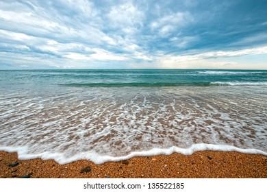 Beautiful landscape: sea after a storm