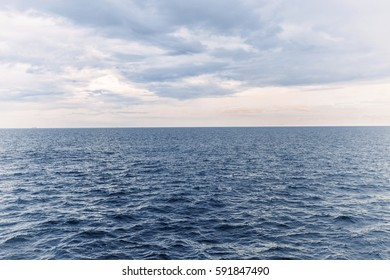 Beautiful landscape of sea and sky.