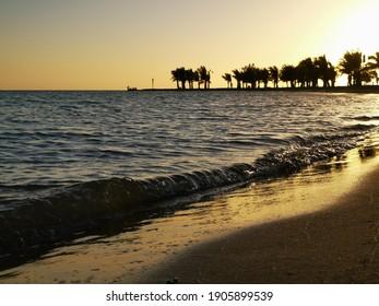 Beautiful landscape at a seashore.