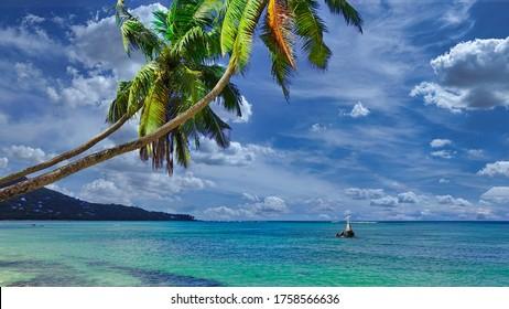 Hermoso paisaje de la isla de Seychelles