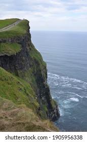 A beautiful landscape shot from mountain top facing towards sea