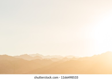 Beautiful landscape with Sinai Mountains, Dahab, Sinai, Red Sea, Egypt, Africa