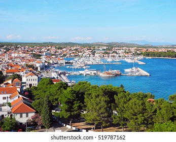 Beautiful landscape of small resort town of Vodice in Croatia.