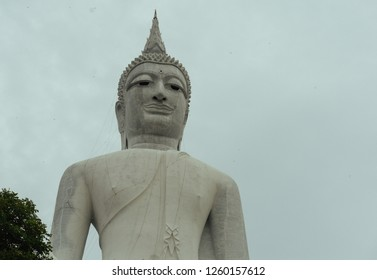 Beautiful landscape of Stone carving in wad-rxy-phraphuththbath-phum-no-rmy Temple,mukdahan, Thailand