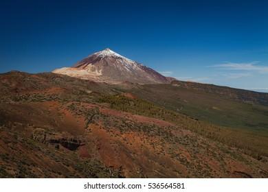 Beautiful landscape of Teide volcano mountain
