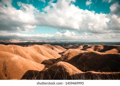 Beautiful landscape at Tenau hill, Sumba island, East nusa tenggara, Indonesia