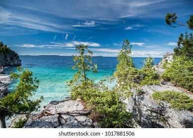 Beautiful landscape in Tobermory, Ontario, Canada