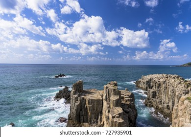 beautiful landscape in tojinbo cliff
