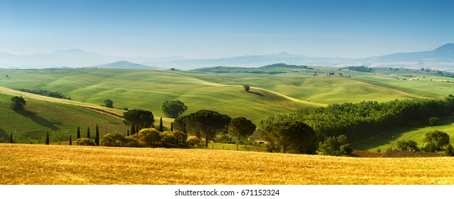 Beautiful landscape from Tuscany, Italy
