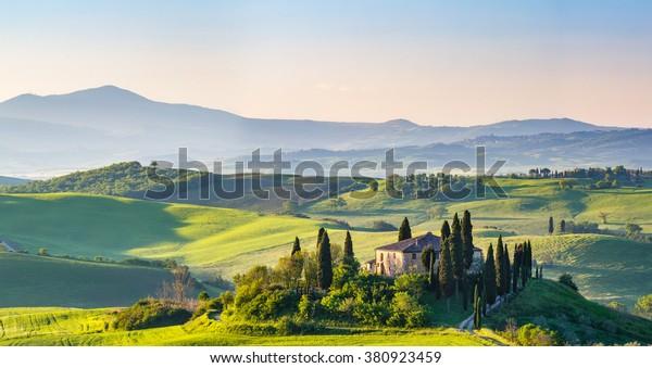 Schöne Landschaft in der Toskana, Italien