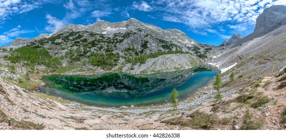 Beautiful landscape of the valley of the seven lakes in Julian Alps