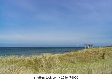 Beautiful landscape with a view of the German Baltic Sea