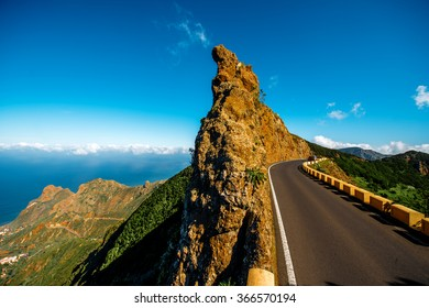 Beautiful landscape view on natural park Anaga in northeastern part of Tenerife island, Spain