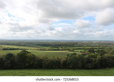 Beautiful landscape view of Warwickshire and Oxfordshire Counties UK