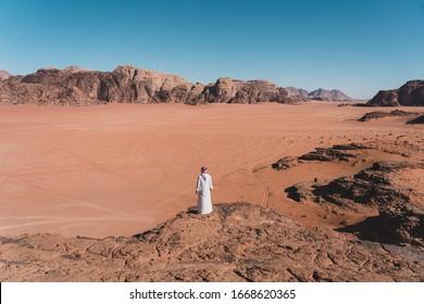 Beautiful landscape of Wadi Rum desert, red desert south part of Jordan, Arab, Asia