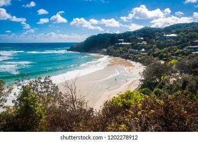 Beautiful Landscape of Wategoes Beach, Byron Bay, New South Wales, Australia.
