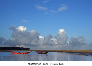 beautiful landscape and waterscape of Talsari in Odisha, India