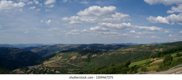 Beautiful landscape from Way of Santiago Galicia Spain
