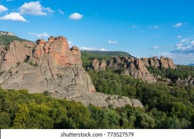 Beautiful landscape of western Balkan Mountains. Belogradchick rocks. Amazing bulgarian nature.