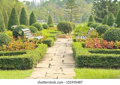 Beautiful landscaped garden