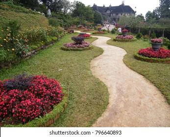 Landscaped garden images stock photos vectors shutterstock a beautiful landscaped garden of flowers workwithnaturefo