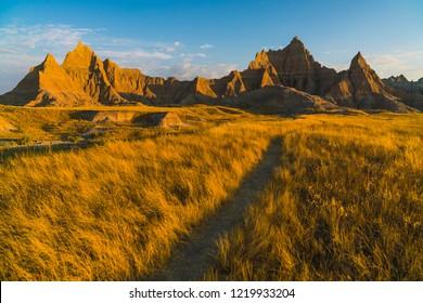 beautiful landscapes in Badlands national park,South dakota,usa.