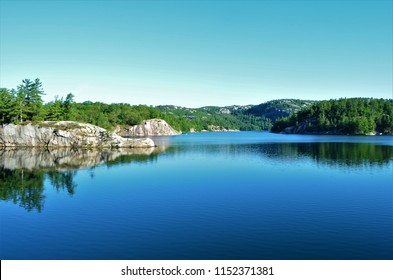 The beautiful landscapes of Killarney Provincial Park in Ontario Canada with the view of Georgian Bay and lakes that invites tired hikers and paddlers to swim, refresh and rejuvinate.