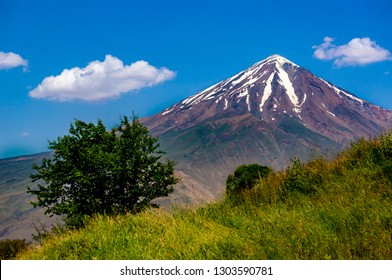 Beautiful landscapes and nature of Iran, Damavand peak in background