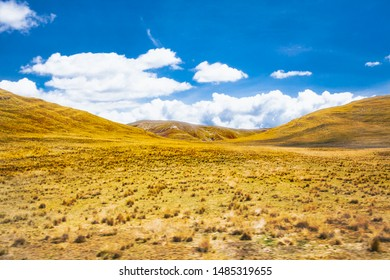 Beautiful landscapes on the road between Puno and Cosco , Peru. South America.